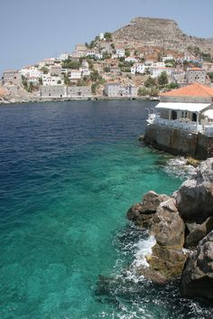 Hydra island, Greece - with Lagoudera restaurant/night club on the right (previously known as The Yacht Club)