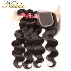Free Part  3*4 Lace Closure With Bundles Bleached Knots Brazilian Virgin Hair with closure Brazilian Body Wave Human Hair VIP001