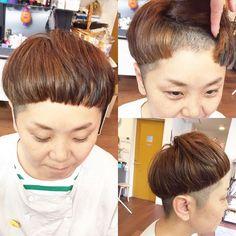 前髪を刈り上げ。 #マッシュ#グラムヘアー #ツーブロック #前髪ぱっつん #刈り上げ #前髪刈り上げ
