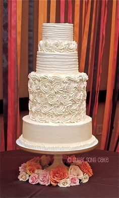 Rosette Buttercream Wedding Cake - Beautiful!