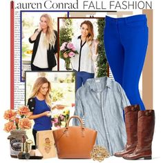"""""""Fall Fashion"""" Polyvore collage #LaurenConrad  I have this outfit!!! Never would have thought to pair these together, but I like it!"""