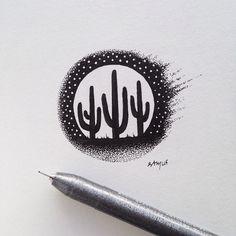 #cactus #illustration by samlarson