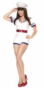Sexy Pin Up Loren Navy Girl Halloween Costume