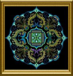 """OCF – ONL 122 – """"Sparkling Peacock Mandala"""" – Chatelaine"""