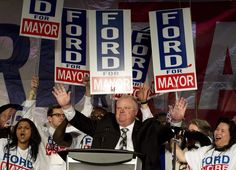Former Toronto Mayor Rob Ford, whose scandal-plagued time in office made him an international celebrity, has died at 46. Here are some of the moments from the politician's life in the public eye.
