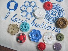 I Love Buttons (via buttonit, Tumblr). @Bev R Lee
