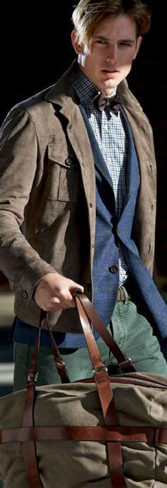 Brunello Cucinelli -- love the look and color combination, hair too.