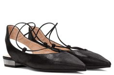 Lace-up flats by His