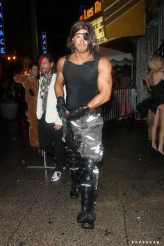 Pin for Later: Look Back at All of Last Year's Memorable Celebrity Halloween Costumes! Kellan Lutz in Combat Gear
