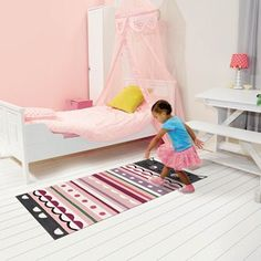 The Kids Line Collection by Arte Espina Contemporary Rugs, Modern Rugs, Girls Bedroom, Bedroom Decor, Teenage Bedrooms, Childrens Rugs, Kids Line, Striped Rug, Pink Room