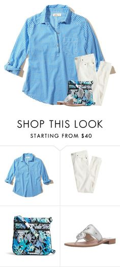 """""""There's a want and there's a need"""" by your-daily-prep ❤ liked on Polyvore featuring Hollister Co., J.Crew, Vera Bradley, Jack Rogers and Kendra Scott"""