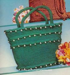 Jeweled Bag   Free Vintage Crochet Pattern