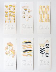 花朵 清新風格圖樣 年曆設計 |
