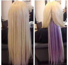 lavender highlights blonde - Google Search