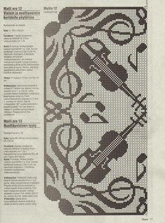 Ivelise Feito à Mão: Crochê Filé Musical!