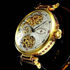 Elegant Watches, Beautiful Watches, Patek Philippe, Tshirt Adidas, Steampunk Accessoires, Style Steampunk, Skeleton Watches, Vacheron Constantin, Expensive Watches