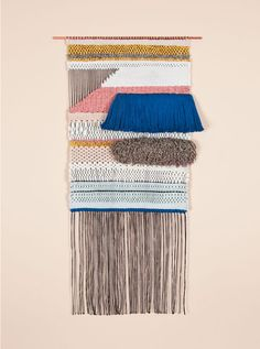 Brook & Lyn Art/Objects BLUE RYA AND TRIANGLE WINDOW, handwoven by Mimi Jung in Los Angeles