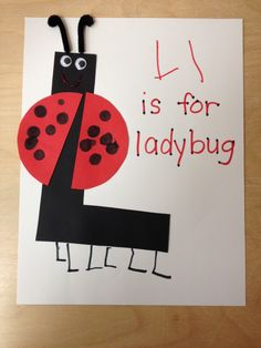 Ll is for Ladybug - Letter of the Week L Activity on The Teaching Zoo blog!