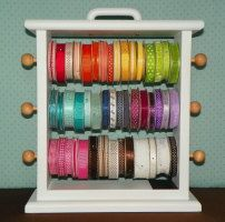Cute, colorful ribbon rack available at Etsy.