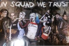Two new low-res promotional posters for David Ayer's Suicide Squad have surfaced. One features the full team assembled while the other is a solo shot of Margot Robbie's mischievous Harley Quinn! Gotham, Suside Squad, Dope Movie, The Big Band Theory, Captain Boomerang, Killer Croc, Deadshot, Batman Vs Superman, New Poster