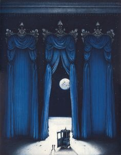 """""""Midnight in the Palace of the Moon"""" by Caroline Donohue.  Etching"""