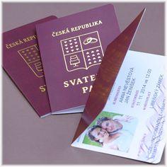 Svatební oznámení cestovní pas sf205