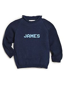 MJK Knits Personalized Baby's, Toddler's & Kid's Classic Cotton Na
