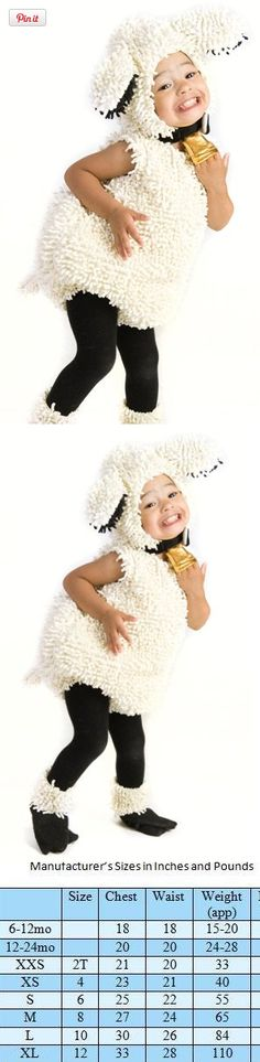 Baby Lovely Lamb Costume - Months, Rise and rise again until lions become lambs. Or adorable lamb costumes. If you love sheep (and who doesn't?), then you too will love the Kids White Lamb Costume. It's as huggable as a real sheep, but. Sheep Costumes, Nativity Costumes, Christmas Costumes, Baby Costumes, Diy Halloween Costumes, Baby Halloween, Dance Costumes, Childrens Dressing Up, Lamb Costume