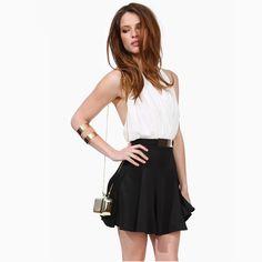 >> Click to Buy << GO FURTHER  fashion colorant match big racerback sexy halter-neck one-piece dress high waist formal dress princess dress  #Affiliate