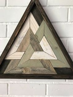 Triangle sacré Triangle en bois récupéré Art Design méditation