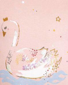 Swan placement for @zalando kids brand Friboo #illustration #swan #gold #print…