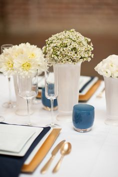 Modern Blue & Gold Wedding
