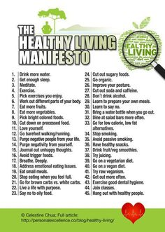 Healthy living for body,mind and spirit ~ All very doable... except for coffee & alcohol!  :)