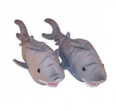 Shark slippers!!!! These are freakin' awesome. Thank you Discovery Channel.