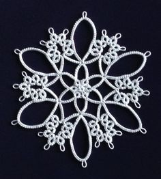 Workbasket Magazine_Tatting Patterns_two color coaster