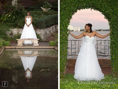 © Favorite Photography | Garden Bridal Session / Outdoor Photography / Cummer Museum Wedding / Jacksonville Bridal Photography
