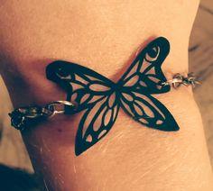 bracelet papillon en plastique fou, déclinable en plusieurs couleurs : Bracelet par carostyle
