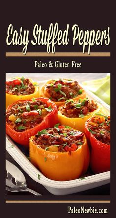 I made a few tasty tweaks to my 2-year-old paleo stuffed peppers recipe...you should check out this easy and awesome dish now!