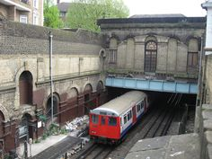 Metropolitan Line passing through Marlborough Road, disused since near Lord's Cricket Ground, St John's Wood. London Transport, Public Transport, London Underground Train, Metropolitan Line, Hidden London, Shepherds Bush, Disused Stations, London Pictures, U Bahn