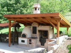 Handcrafted tile stoves by Akos Kaszap and Andras Cserepes at Kácsa Ceramics Manufactory. Pizza Oven Outdoor, Outdoor Cooking, Outdoor Fire, Outdoor Living, Parrilla Exterior, Barbecue Garden, Brick Bbq, Bread Oven, Backyard Fireplace
