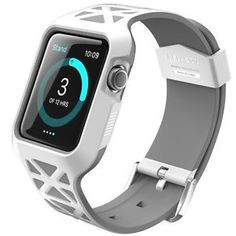 Apple Watch 42mm Case Bumper Hybrid Protective Cover Soft Anti scratch White New