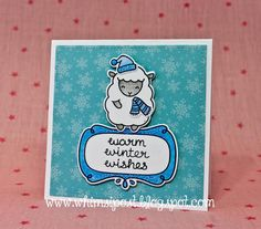 the Lawn Fawn blog: Festive Baaah Humbug Cards by Elise
