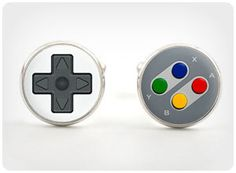 gamer cufflinks. Bobby needs these for our wedding!