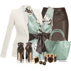 Leather n Bows by stylesbyjoey on Polyvore