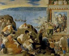 Recuperación de Bahía del Brasil (óleo sobre lienzo). Representa la reconquista de Salvador de Bahía por las tropas hispano-portuguesas bajo el mando de Don Fadrique el 1 de mayo de 1625, contra las fuerzas holandesas que la tenían ocupada