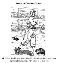 Scenes of Obsolete Games: Possum Tossing.