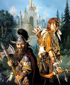 """Clyde Caldwell - Artwork commissioned for the Dragonlance book """"Kindred Spirits"""" - a great and often overlooked entry."""