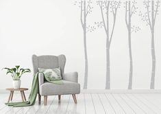 This is a stunning custom design for your lounge or bedroom feature wall! The design is made up of 2 trees that are both high. The one tree is wide and the other is 60 cm wide. Kids Wall Decals, Wall Stickers, Feature Wall Bedroom, One Tree, Tree Wall, Baby Room, Custom Design, Lounge, Wall Decor