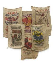 potato sack race anyone? Burlap Coffee Bags, Coffee Sacks, Burlap Projects, Burlap Crafts, Sewing Projects, Potato Bag, Potato Sacks, Sack Race, Picnic Theme