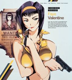 Anime Girls: Cowboy Bebop's Faye Valentine Cowboy Bebop Faye, Cowboy Bepop, Cowboy Bebop Wallpapers, Cowboy Bebop Tattoo, Tracer Cosplay, Space Anime, Outlaw Star, See You Space Cowboy, Giant Bomb